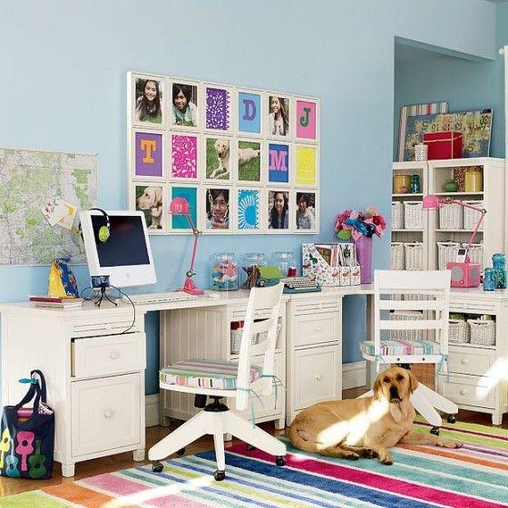 All Kind Of Modern Study Room Furniture Design Dazzling Aqua Blue
