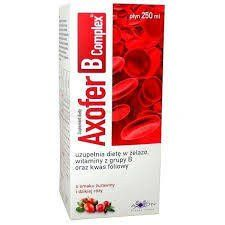Axofer B Complex liquid flavored with cranberry and rosehip 100ml