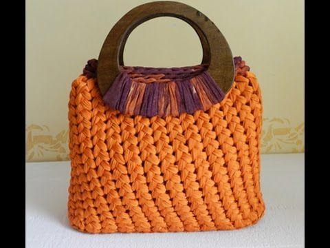 crochet bag from fabric yarn | bolsos | Pinterest | Tasche häkeln ...