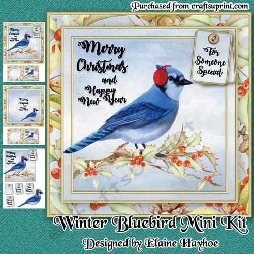 christmas bluebird mini kitelaine hayhoe an 8x8