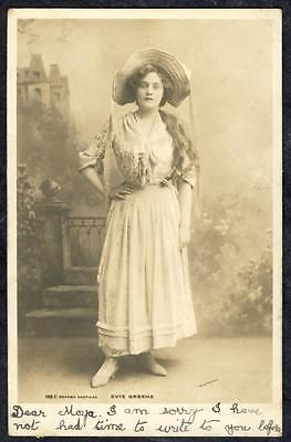 a1327     Evie Greene  .. Edwardian Stage  Actress ... Rotary Card .  Dated 1903