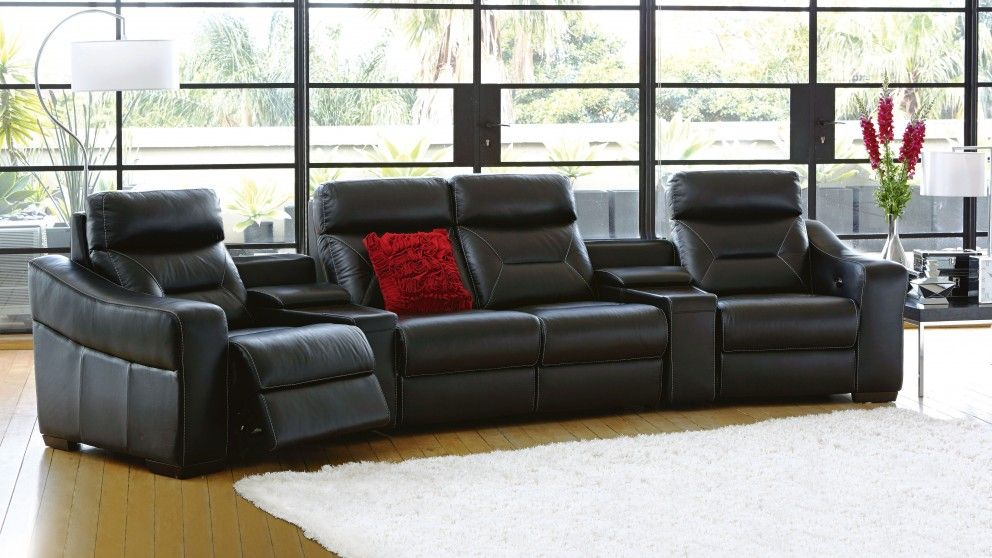 Bodega mk2 leather powered recliner modular lounge for Outdoor furniture harvey norman
