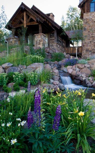 63 relajante jardín y patio trasero Cascadas DigsDigs Casas y - cascadas en jardines