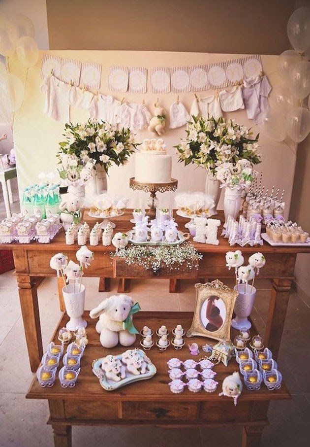 Decoracion fiesta baby shower para ni as mesas dulces - Fiesta baby shower nina ...