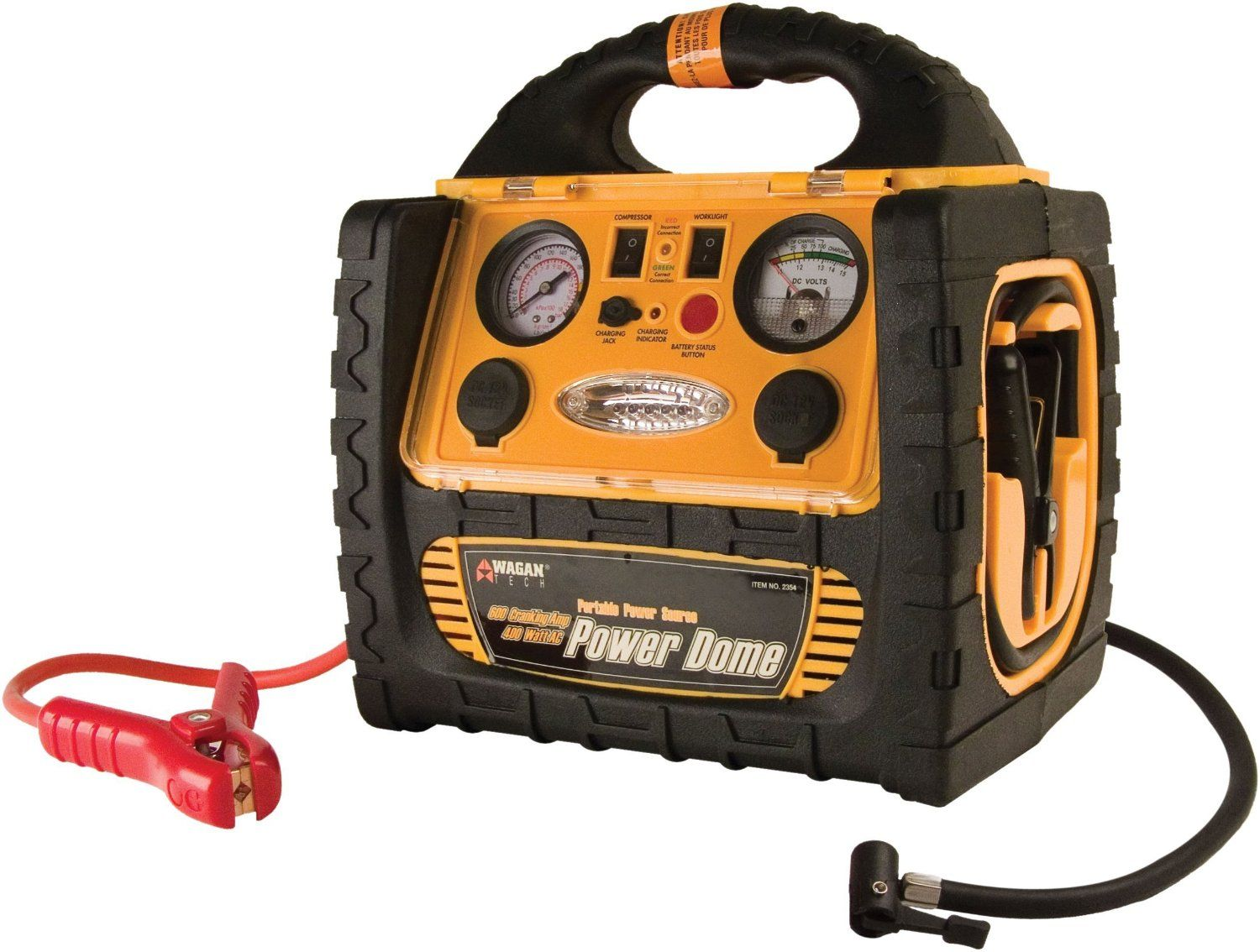 A look at the Wagan 400Watt Power Dome Jump Starter http