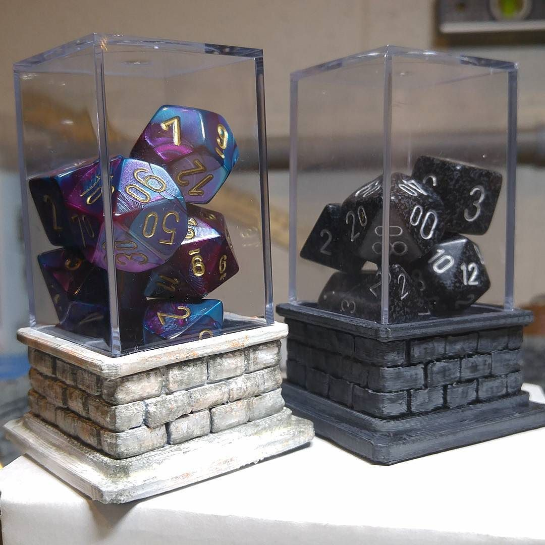 3d printed dice holders! #3dprinting #dice #d20 # ...