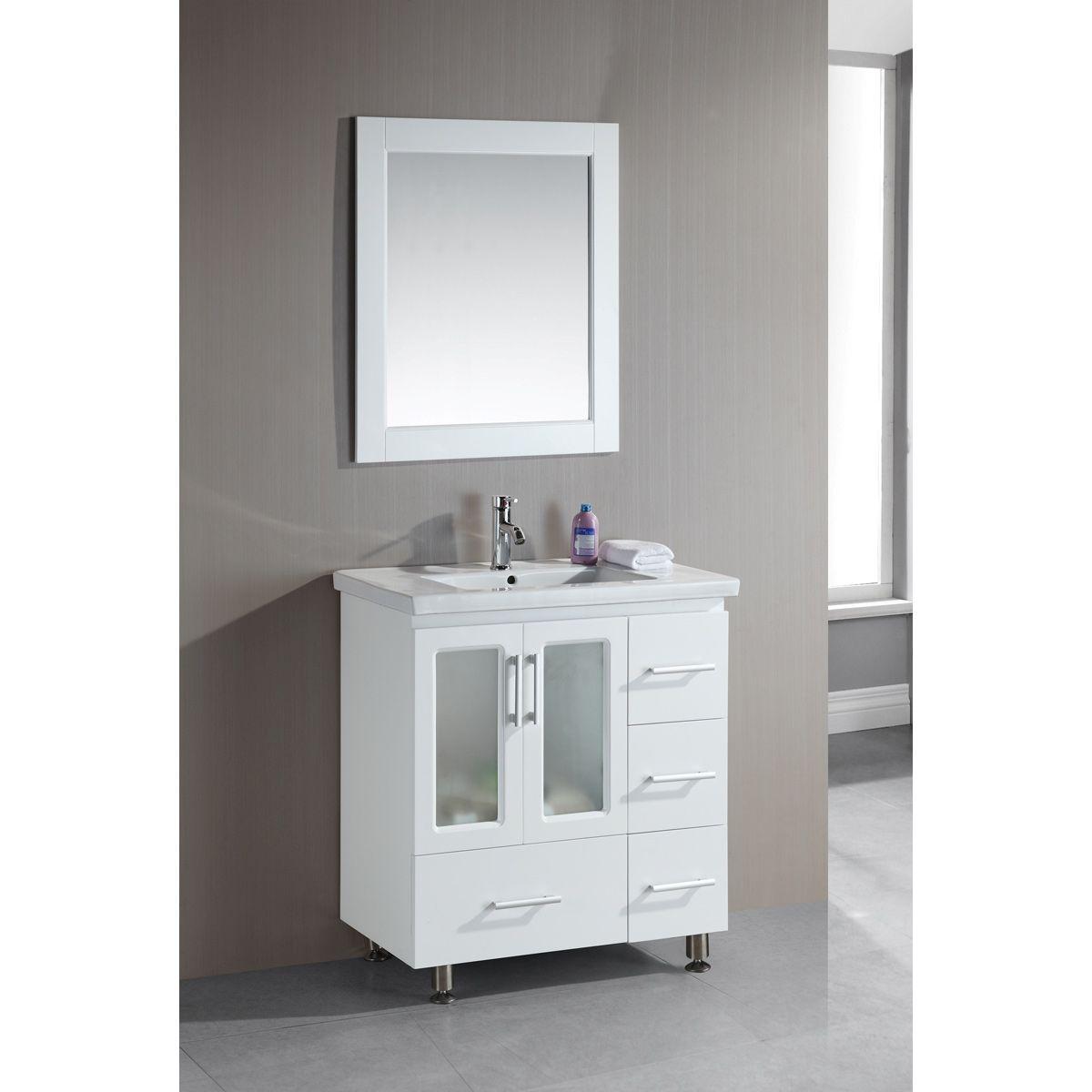 Design Element Stanton 32 Inch Single Drop In Sink Vanity Stanton
