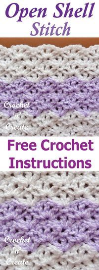 Photo of Open Shell Crochet Stitch – Free Crochet Tutorial on Crochet 'n' Create