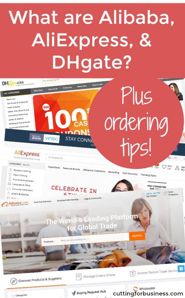 What are Alibaba, AliExpress, and DHgate?   Crafts