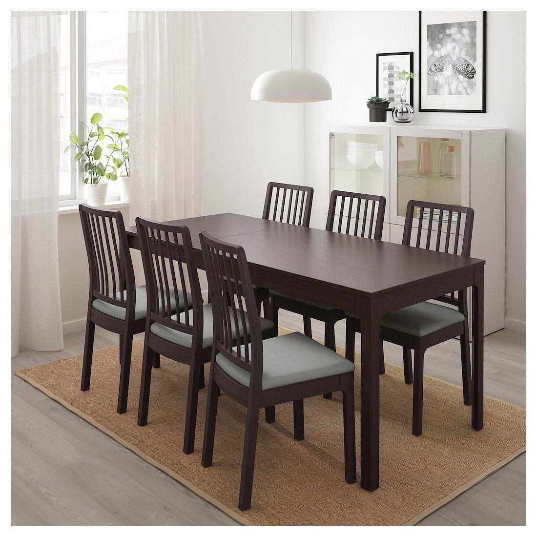 IKEA EKEDALEN Dark Brown Extendable table in 2019 Ikea