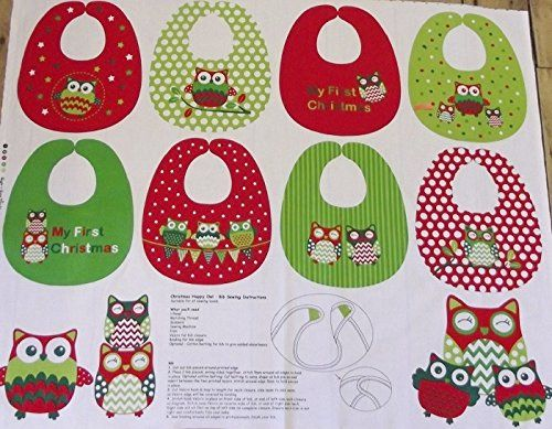 Christmas Owls Baby Bibs Cotton Quilting Panel Fabric - Nutex Nutex http://www.amazon.co.uk/dp/B00N6TPJSU/ref=cm_sw_r_pi_dp_Qc1aub0P623SY