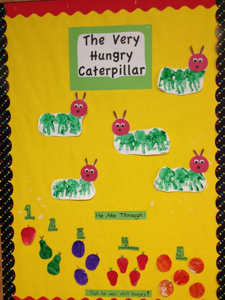 Infant Room Bulletin Board Ideas The Very Hungry Caterpillar Infant Room Bulletin Board Infant Room Daycare Infant Classroom Toddler Daycare Rooms