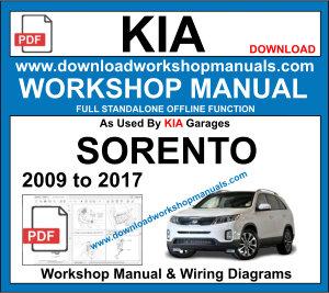 Kia Sorento 2009 To 2017 Workshop Repair Manual Download Kia Sorento Sorento Repair Manuals