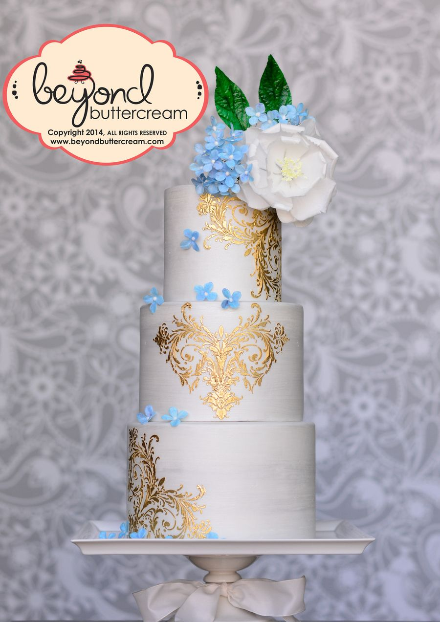 Wafer Paper Cake With Gold Cake Art Pinterest Wafer Paper Cake