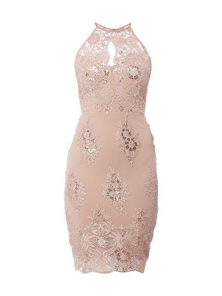 LIPSY Cocktailkleid mit floralen Stickereien in Rosé online kaufen ...