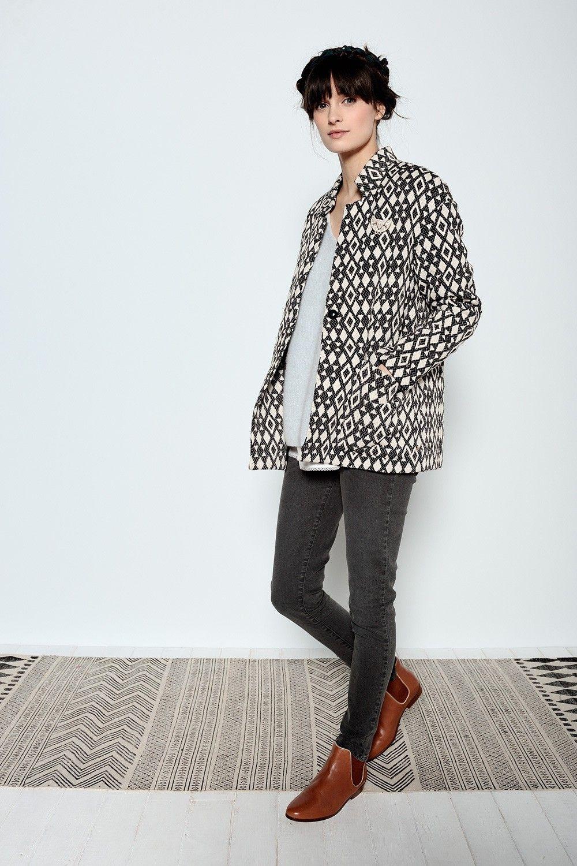 Firmin Jacquard Jacket 100% Cotton - veste femme - Des Petits Hauts 2