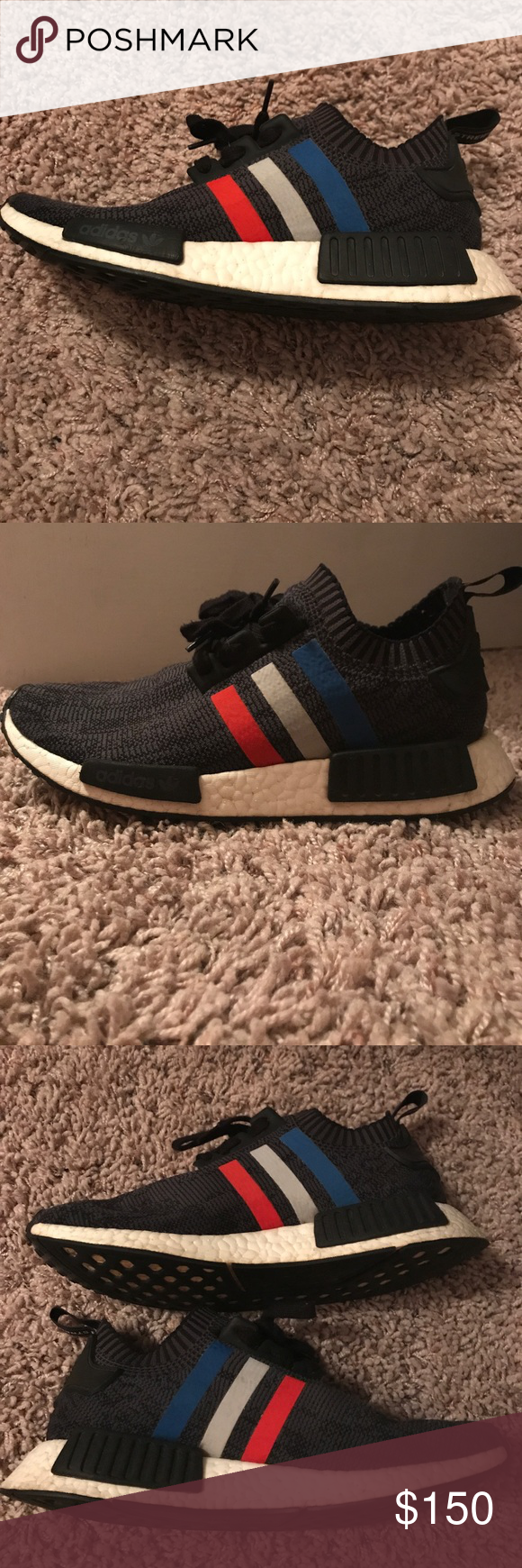33594b05b930 Adidas nmd r1 pk Used but in great condition. Bought at hibbett sports and  receipt is included. 100% authentic Shoes Sneakers