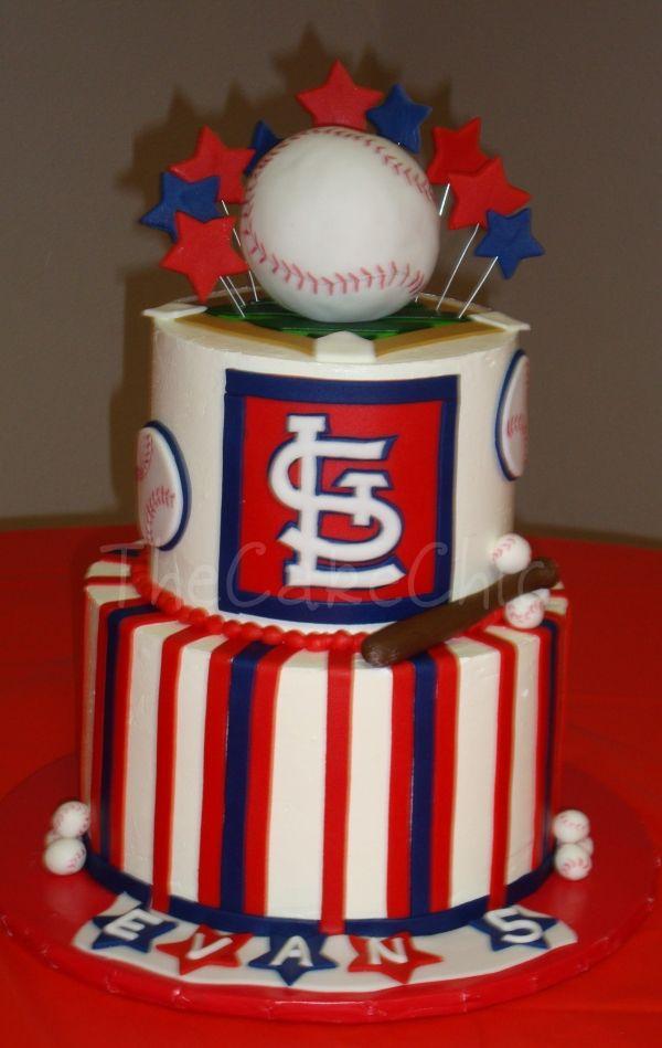 St Louis Cardinals Cake Cake Decorating Pinterest Cake