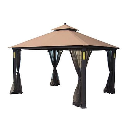 Grand Resort 10\' x 12\' Lighted Gazebo with Integrated Bluetooth ...