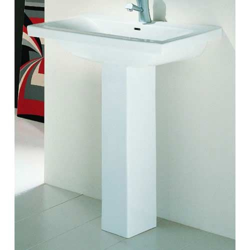 Barclay Products Mistral White One Hole Pedestal Sink