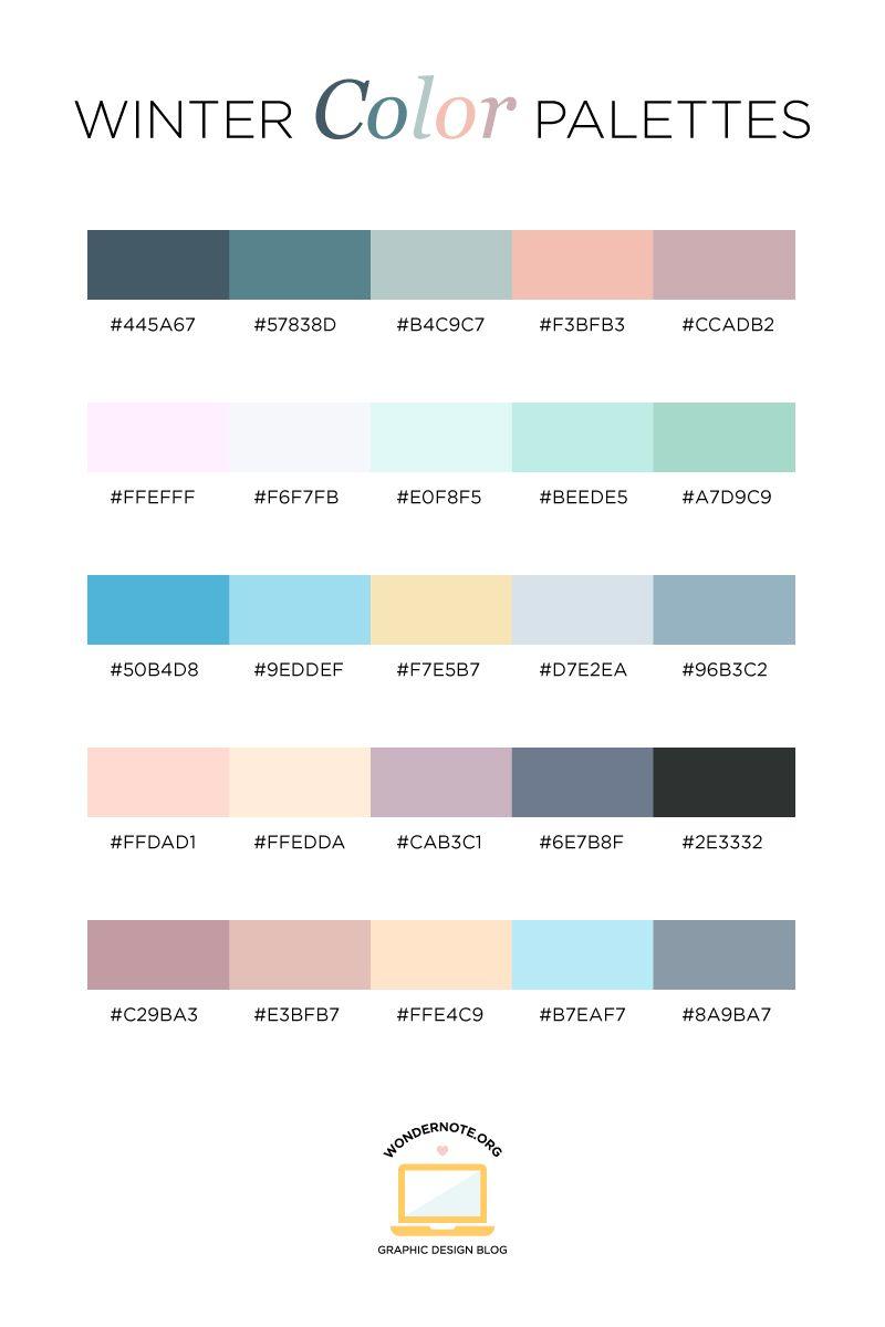 Aesthetic Color Codes : aesthetic, color, codes, Winter, Color, Inspiration, Palette, Pastel, Colour, Palette,