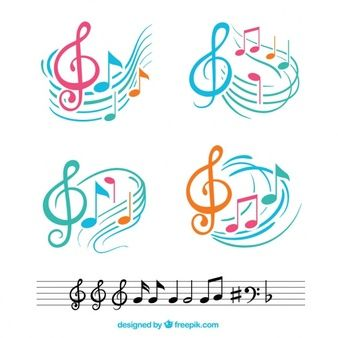 Notes Musicales Collection Notas Musicais Coloridas Notas