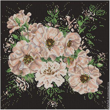Вышивка бисером схемы скачать полная зашивка цветы