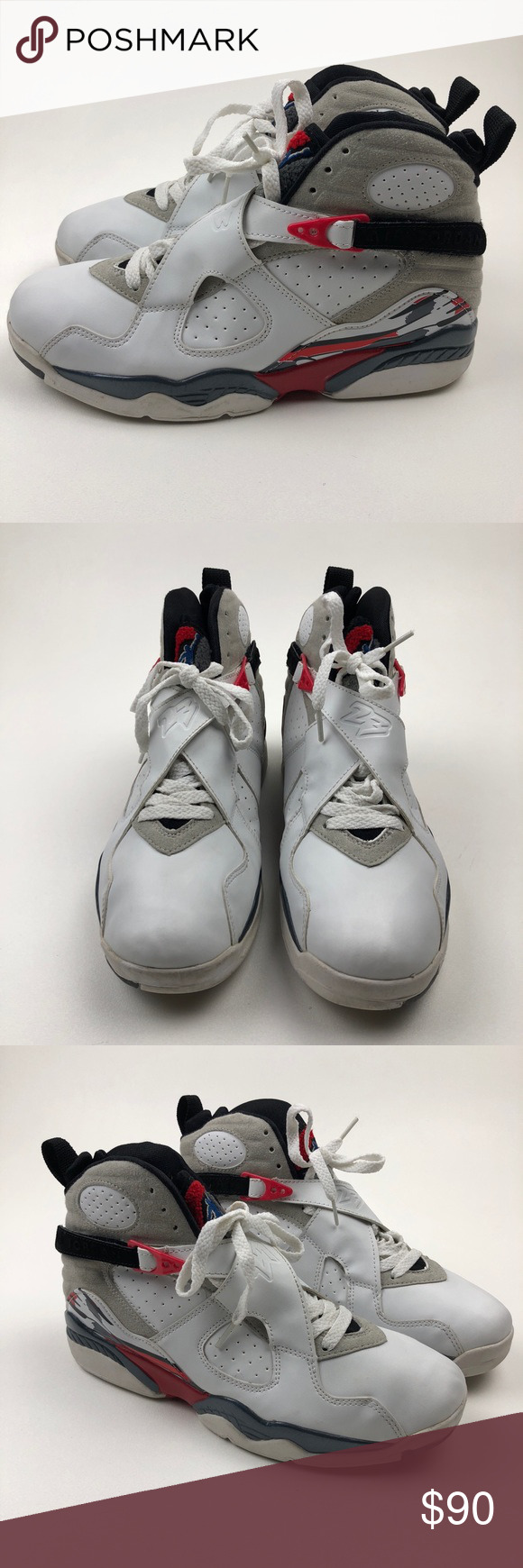 detailed look c6ef9 2b2cf 2003 NIKE AIR JORDAN 8 VIII RETRO WHITE BLACK RED 2003 NIKE AIR JORDAN 8  VIII