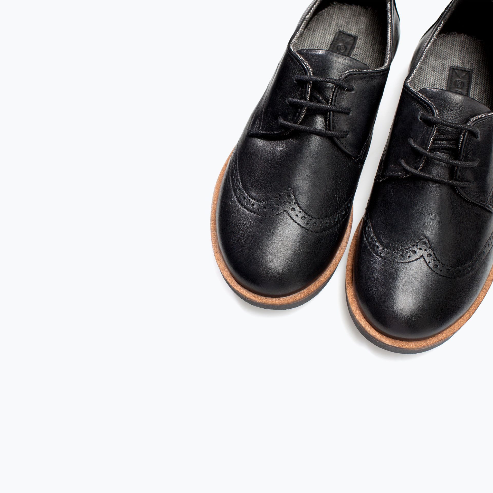 Image 5 of LEATHER BLUCHER from Zara Kid shoes, Boy
