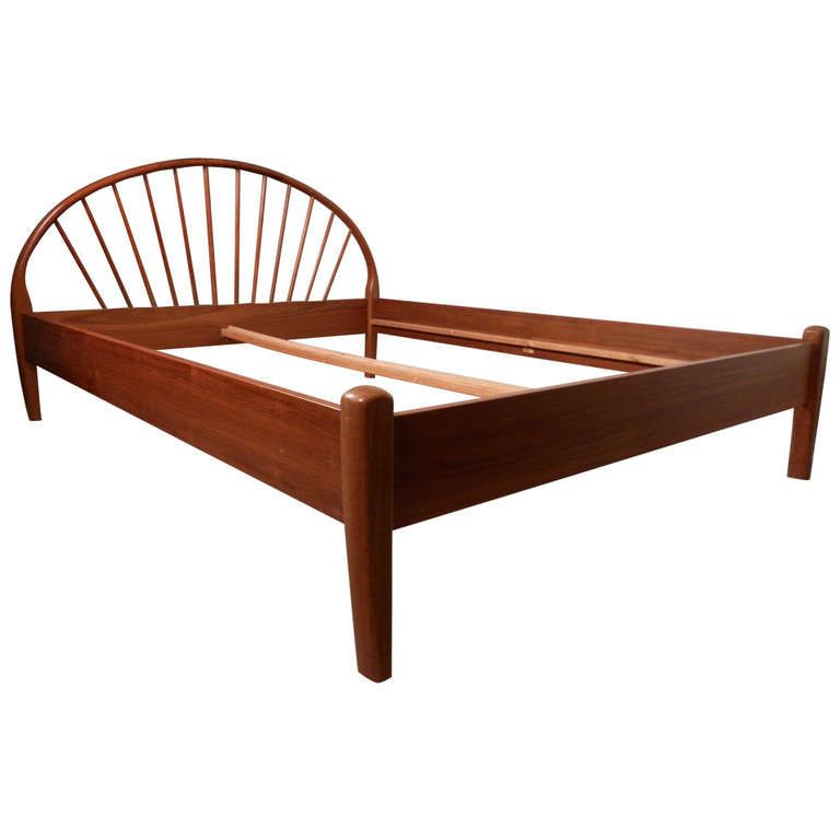 Danish Mid-Century Queen Bed Frame By Jespersen