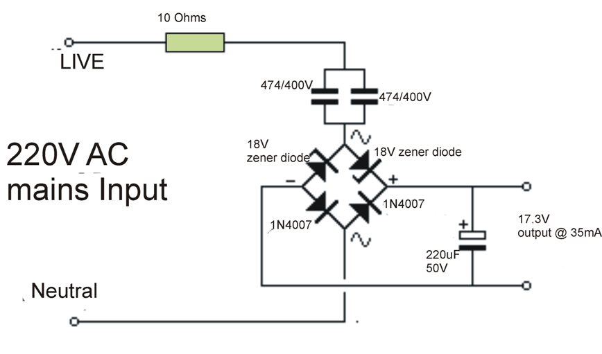 transformerlesspowersupply u202c circuit is a type of power supply that uses the capacitive reactance