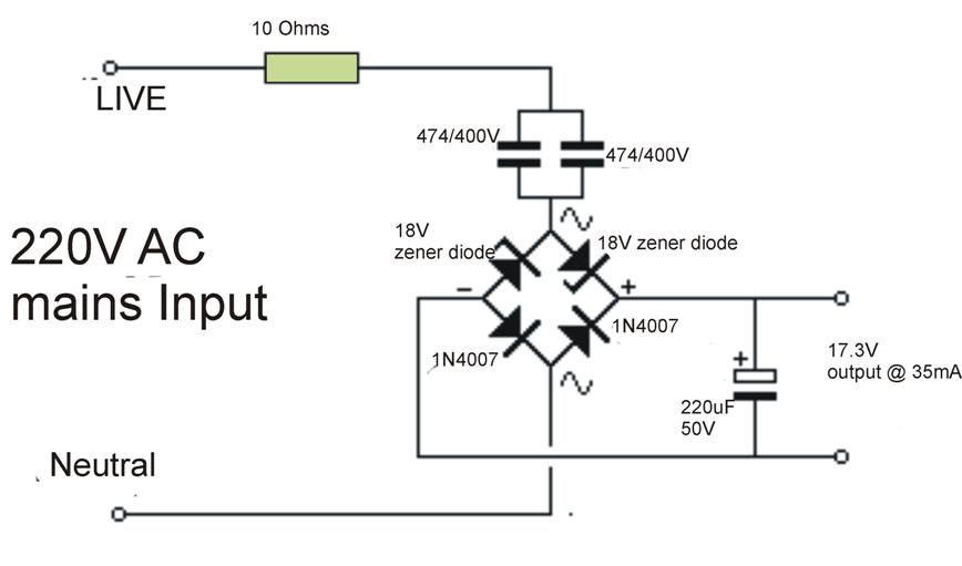 Transformerlesspowersupply Circuit Is A Type Of Power