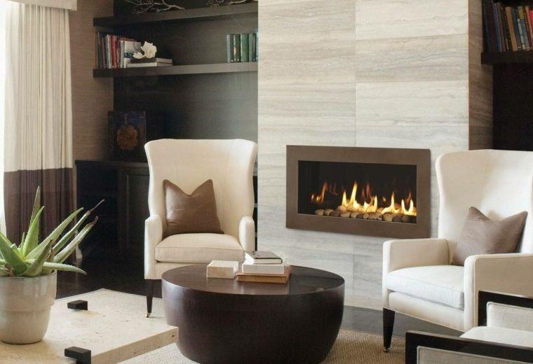 gas rocas aloe maceta marmol Fire places Pinterest Macetas - chimeneas interiores