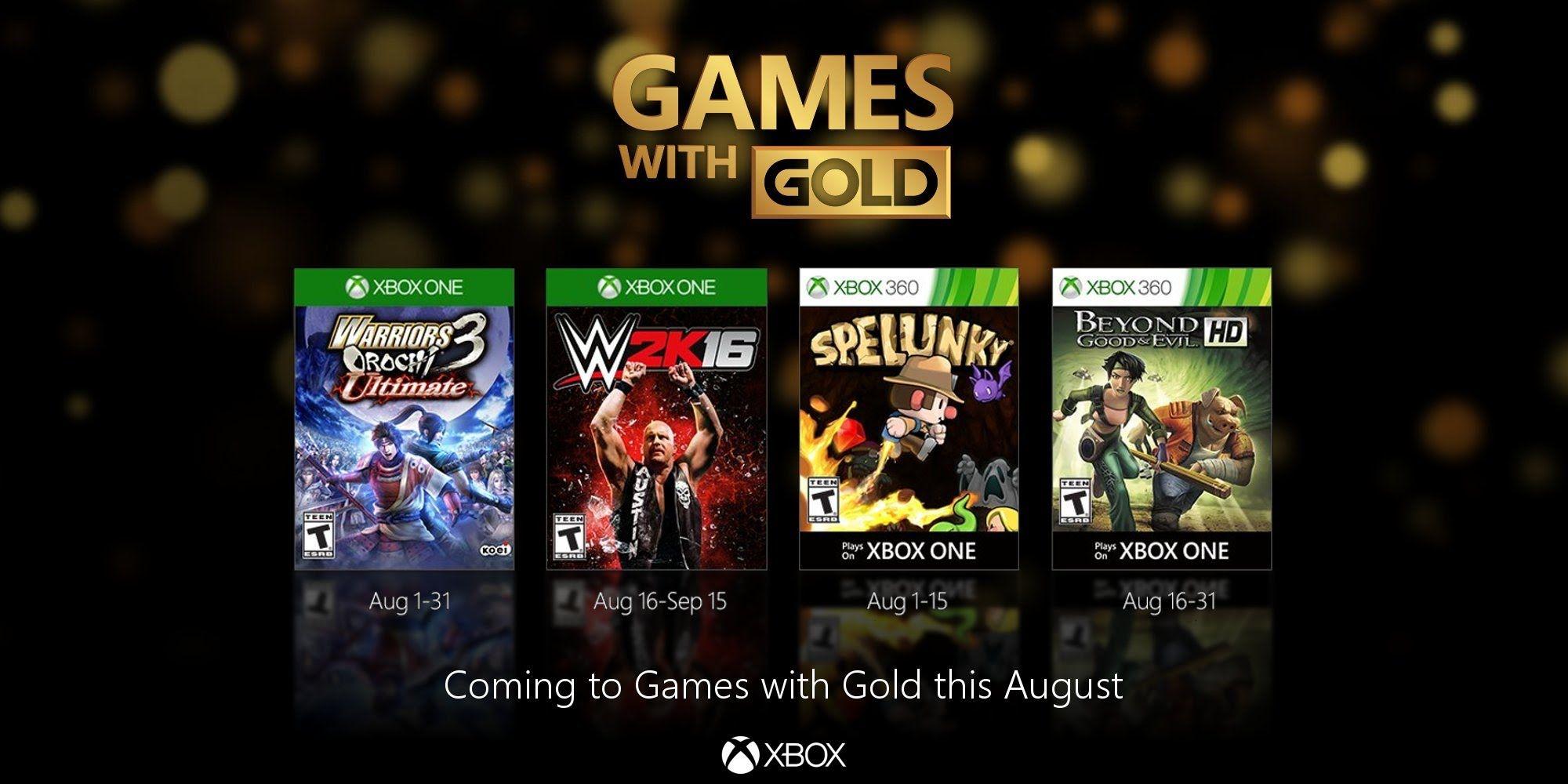 Juegos Con Gold Xbox One Y Xbox 360 Agosto 2016 Xbox One Juegos Xbox