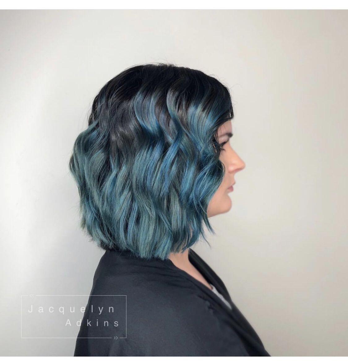 Follow My Instagram Unevneib Dark Hair Blue Hair Dark Teal