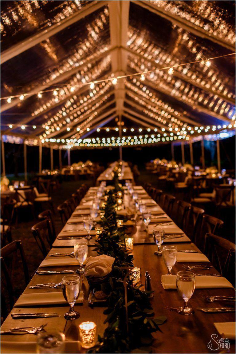 0b9fefc84133 Starlit clear tent with market lights, Cypress Grove Estate in Orlando, FL. Tickled  Pink Weddings + Events - Orlando Wedding Planner