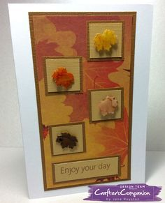 A6 Cardmade using Crafter's Companion Die'sire Mixed Media Dies - Maple Leaves Designed by Jane Royston #crafterscompanion