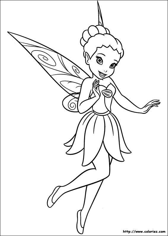 coloriage-la-fee-clochette-12900.jpg (567×794) | fairy / fée fiches ...