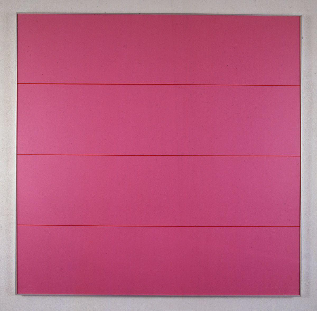 "Olivier Mosset [Switzerland] (b 1944) ~ ""Untitled"", 1991. Serigraphy on card (120 x 120 cm). | #art #painting #minimalart"