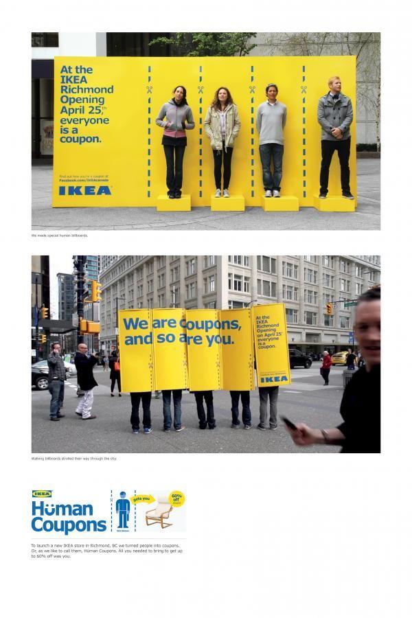 ikea human coupons by leo burnett toronto advertising ikea ad advertising ikea. Black Bedroom Furniture Sets. Home Design Ideas