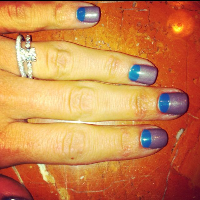 Two Toned Nails/Reverse French