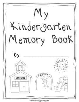 Monthly Memory Book and Portfolio for Preschool, Pre-K