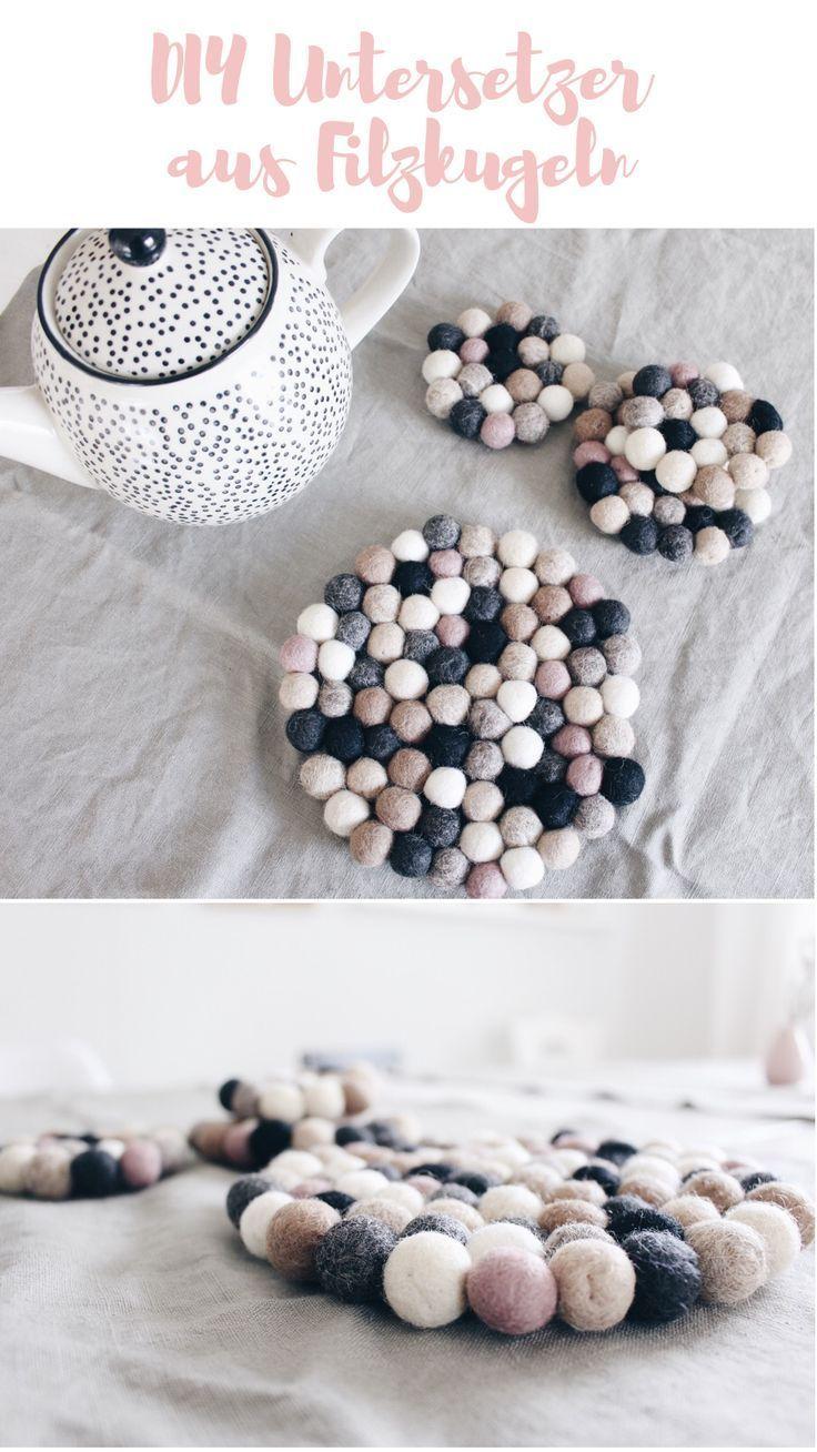 Photo of {Advert} DIY coasters made of felt balls – Boho and Nordic | DIY & interior blog