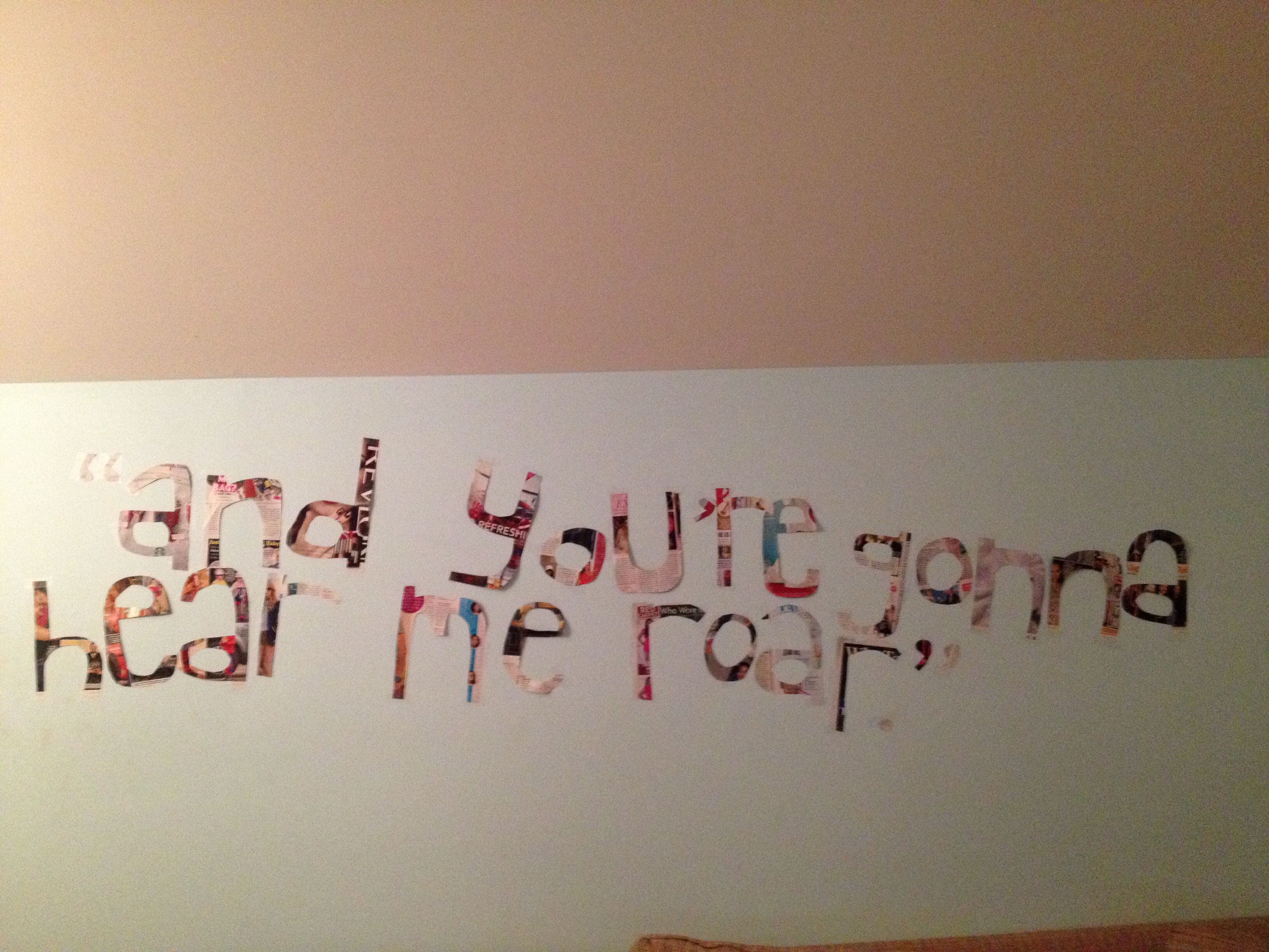 Song lyrics cut out of magazines