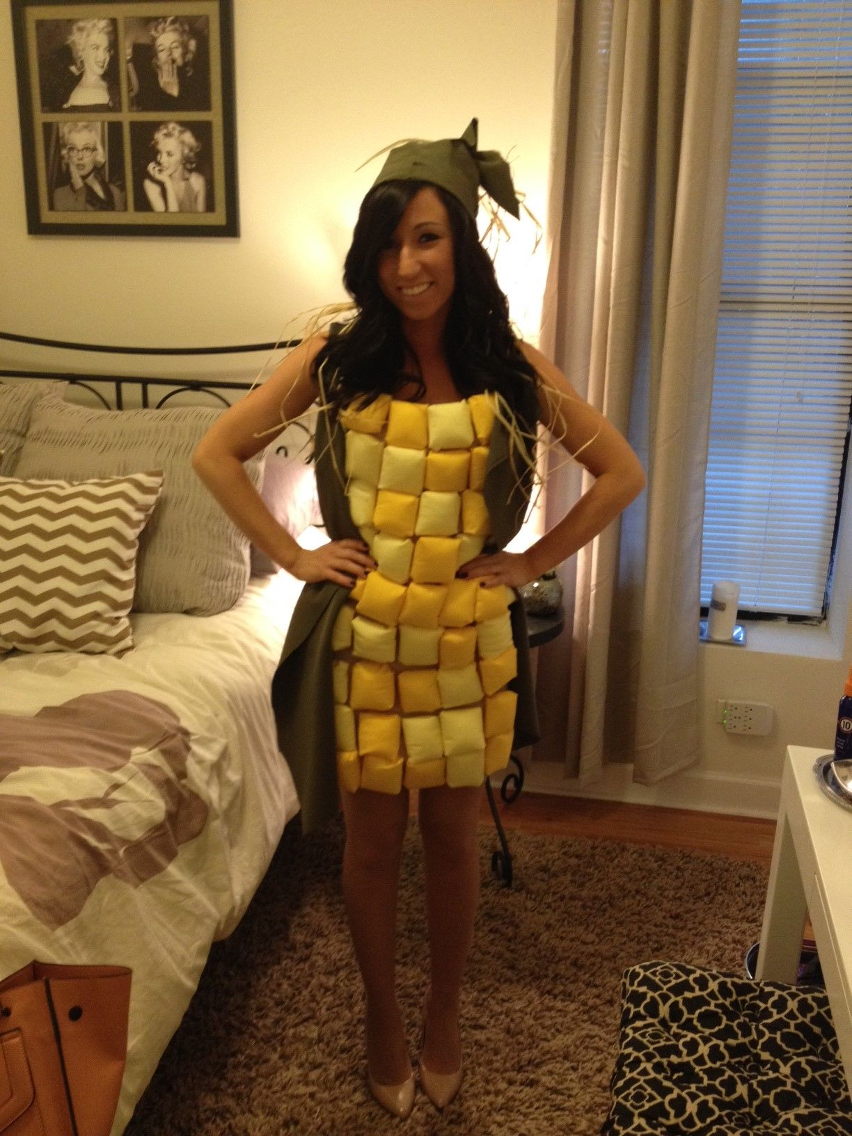 corn on the cob halloween costume funny halloween costume. Black Bedroom Furniture Sets. Home Design Ideas