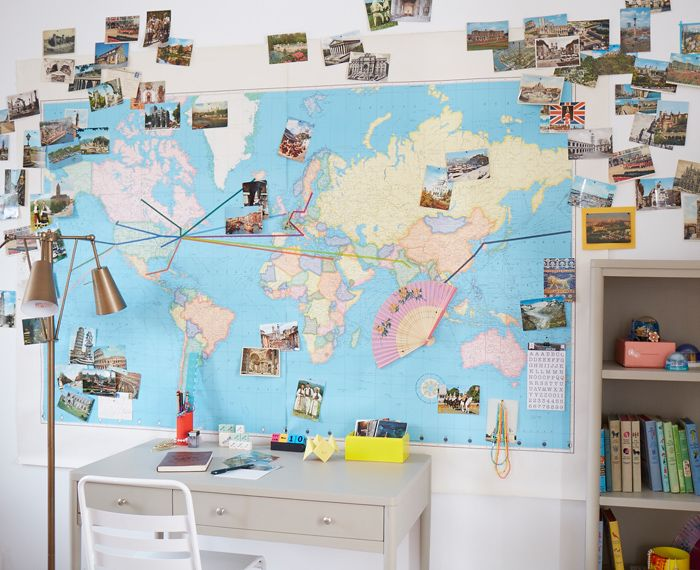 Diy wall map wall maps diy wall and walls diy wall map gumiabroncs Choice Image