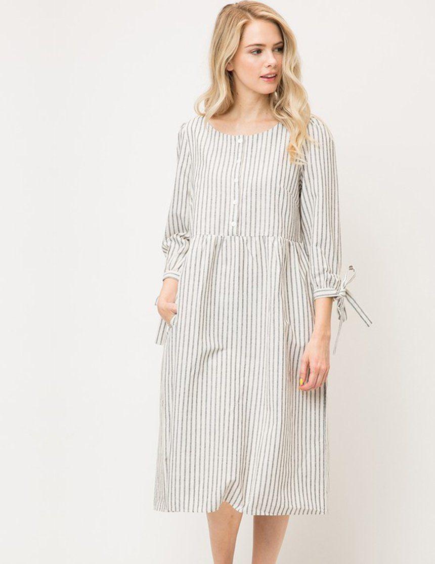 b01405dd071f6 Kyla Linen Nursing Friendly Midi Dress in 2019 | Fashion Platos ...