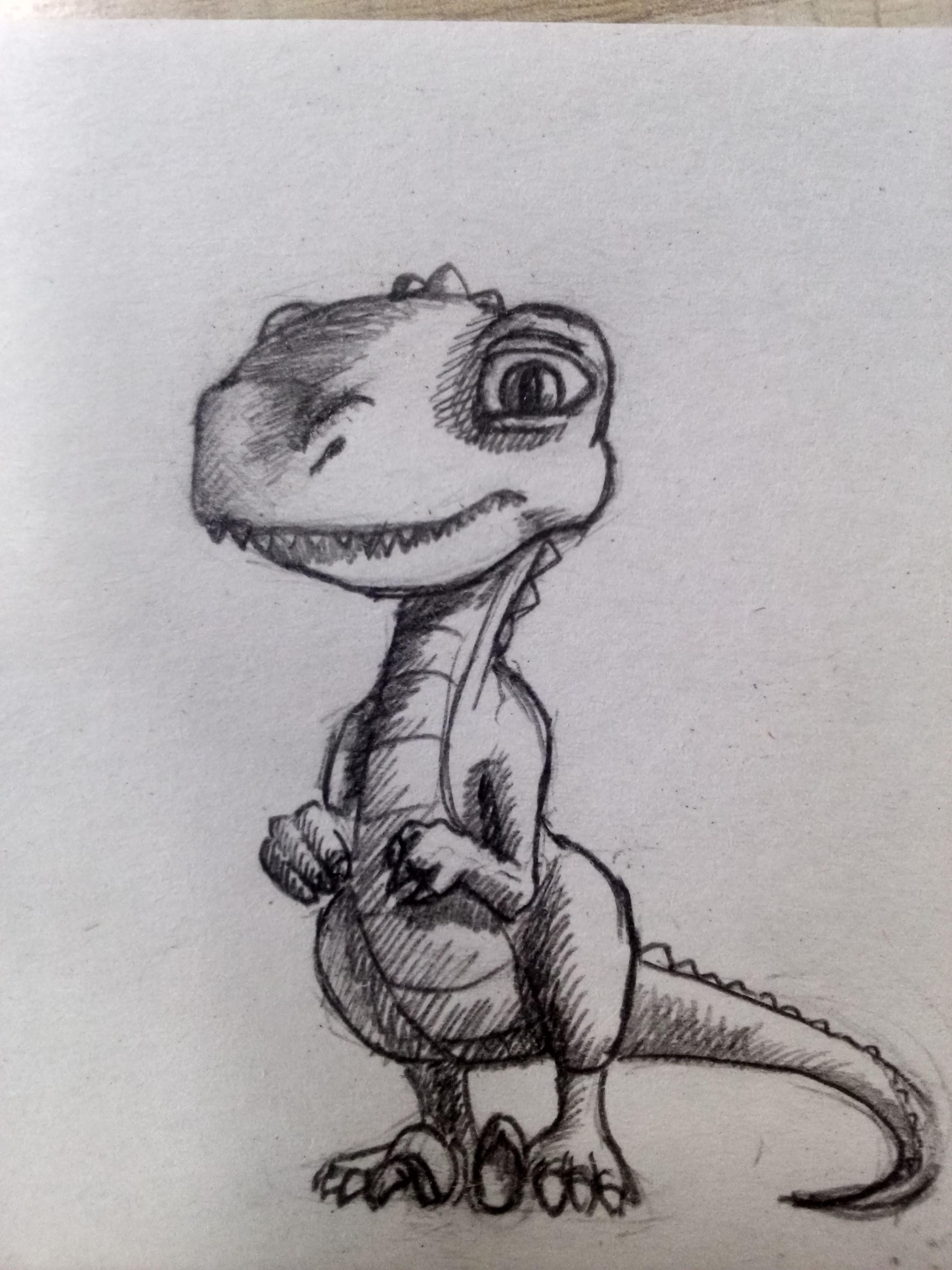 Raptor dinosaur sketch art draw pencil pencil sketch ideas