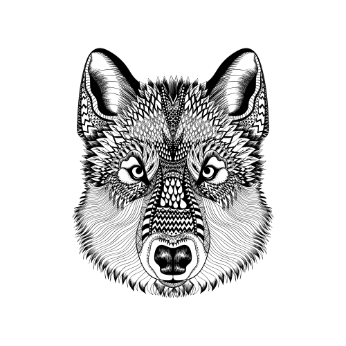 Advanced Animal Coloring Page 6 | Coloring books and Adult coloring