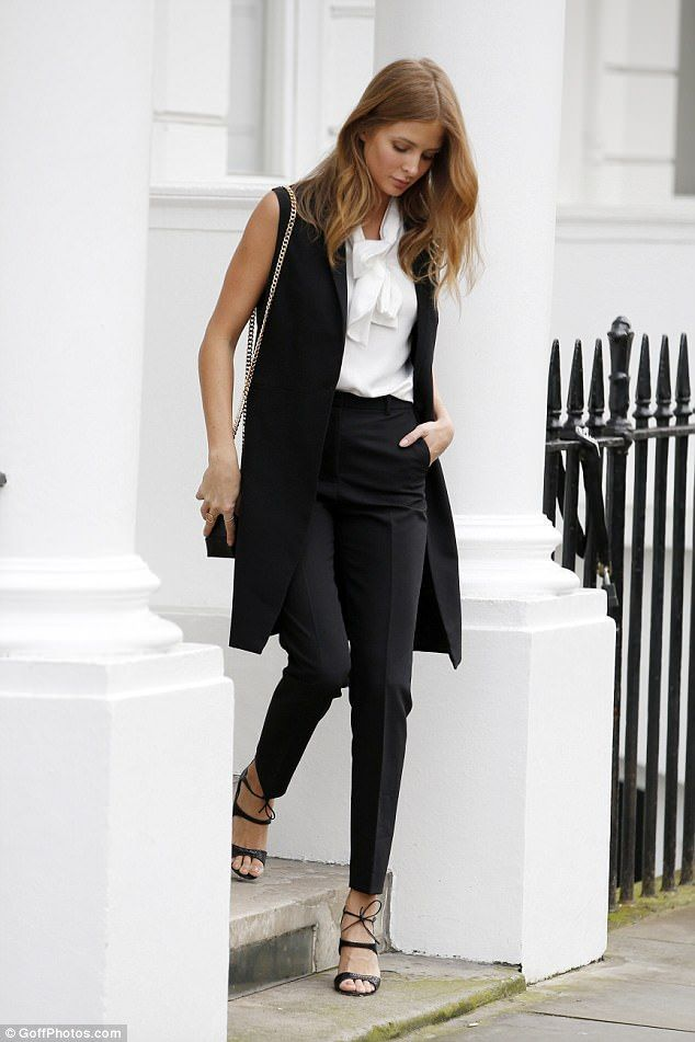 Millie Mackintosh is hard at work as she oozes sophistication
